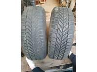 """SOLD Volkswagen 15""""alloys wiht 195/65/15 winter tyres VGC"""