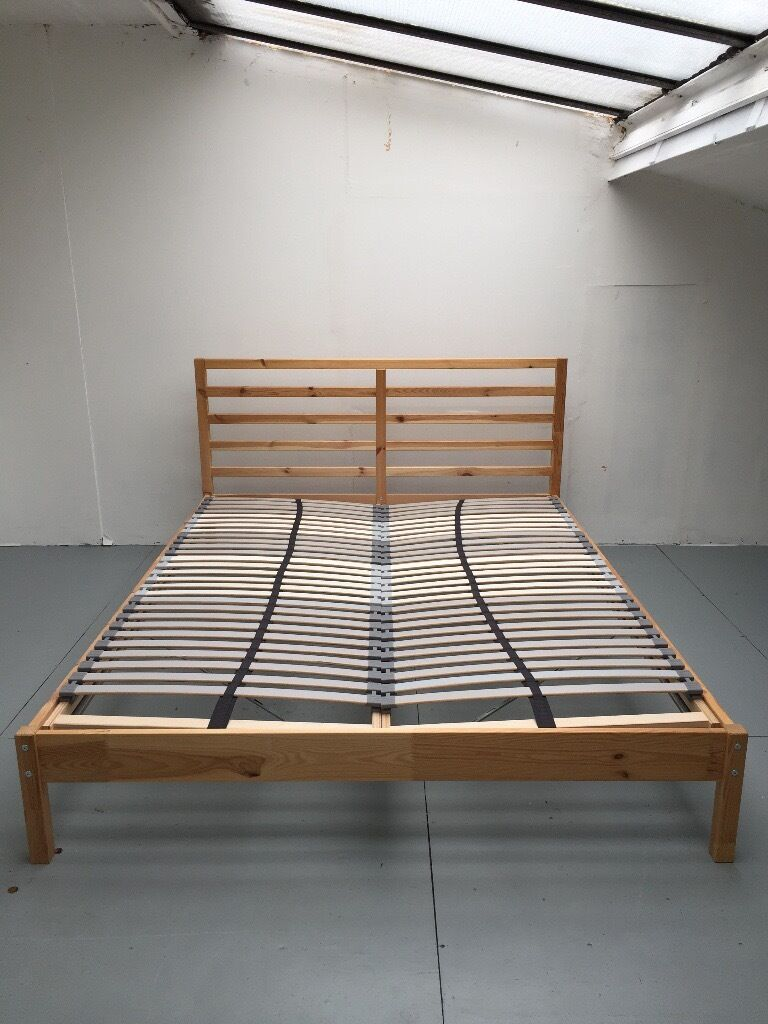 IKEA TARVA - King Size Bed Frame (w. Lonset Slatted Bed Base) MUST ...