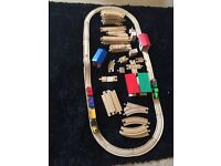 Bio style wooden track and trains with extra