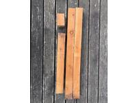 4 timber posts mixed sizes for fencing - 15 pounds