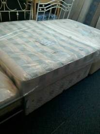 Complete king-size divan bed with drawers #33735 £150