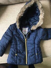 Toddler girls navy coat
