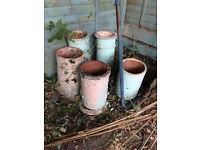 5 vintage chimney pots