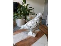 Newspaper Porcelain Pigeon Ornament