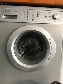 Bosch silver washing machine