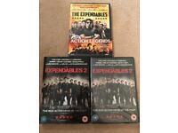 THE EXPENDABLES 1 & 2 DVDS (2 IS SEALED)