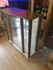 Retro style glass cabinet, excellent condition