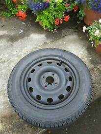 Wheel with tyre