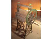 ANTIQUE EWBANK READY MANGLE. Delivery poss. Also for sale : PEW, CHURCH CHAIRS & MORE OLD FURNITURE