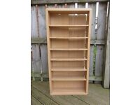 CD / DVD storage unit (7 shelves, 130cm tall) free for collection