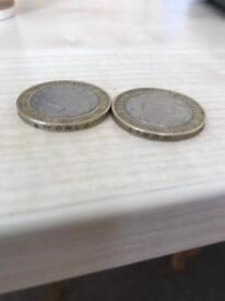 Rare error minted £2 coin