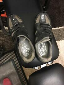 Specialized women's cycling shoes works well with shimano cleats fitted