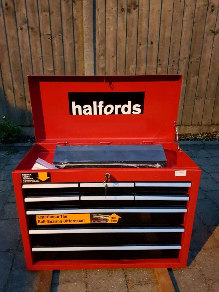 halfords 9 drawer tool chest ball bearing drawers in. Black Bedroom Furniture Sets. Home Design Ideas