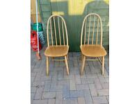 Pair of teak dinette dining chairs possible Ercol ?