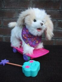 Furreal Friends dog Trixie the Skateboarding Pup with remote control