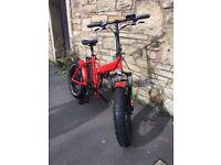 Electric folding bike fat tire