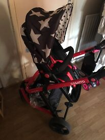 Cosatto Star Buggy with carry cot AND carseat