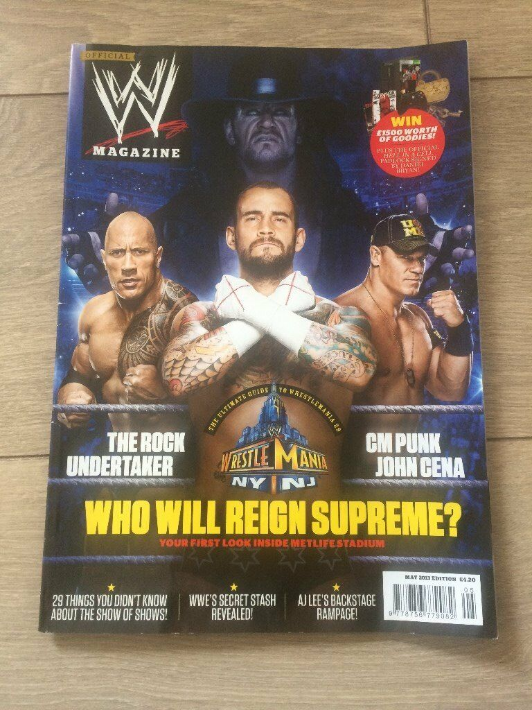 OFFICIAL WWE MAGAZINEin Long Eaton, NottinghamshireGumtree - OFFICIAL WWE MAGAZINE This is the May 2013 edition of the Official WWE magazine. It is still in good condition, and was originally bought for £4.20, as can be seen in the picture