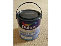 Dulux Light + Space Cotton Breeze Pale Mauve Matt Paint Walls Ceilings Full 2.5 Litre Tin