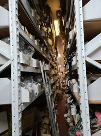 HEAVY DUTY 4.08m height 2.6m width 50cm depth steel racking shelving units