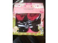 Totes toasties 18-24mth girl zebra slippers