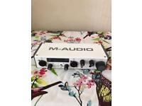 M audio sound card.