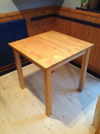 Small Ikea table, Birch wood 75x75cm