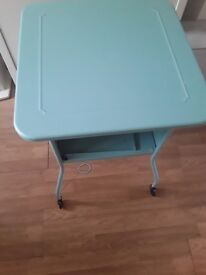 Ikea bed side table blue