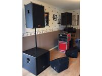 Full peavey PA systym with floor monitors, flight cases and all leads and plugs included £1650 ono