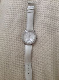 Ladies Guess watch white leather strap