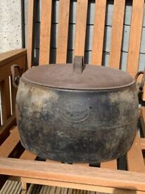 Two vintage cooking pots