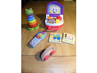 Childrens Toys. Stacker, numbers remote, shapes and colours lunchbox
