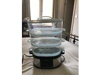 Morphy Richards 48755 3 Tier Food Steamer - Stainless Steel
