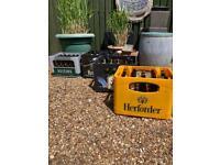 Empty beer bottles,man cave,beer brewing