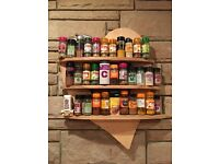 Hand made wooden heart spice rack