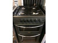 BELLING 50cm GAS COOKER DOUBLE OVEN WITH GRILL FREE DELIVERY ABD WARRANTY