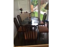 Leaf extending Dinning table & 6 chairs (free delivery)