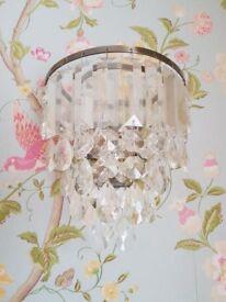 Laura Ashley crystal wall lights