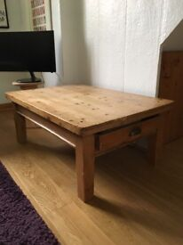 Old Pine low level coffee table.