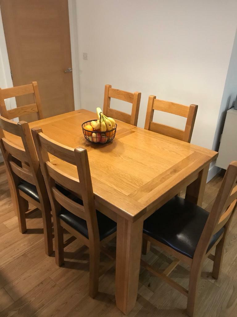 Solid Oak Dining Table & 6 Chairs | in Yarm, County Durham ...