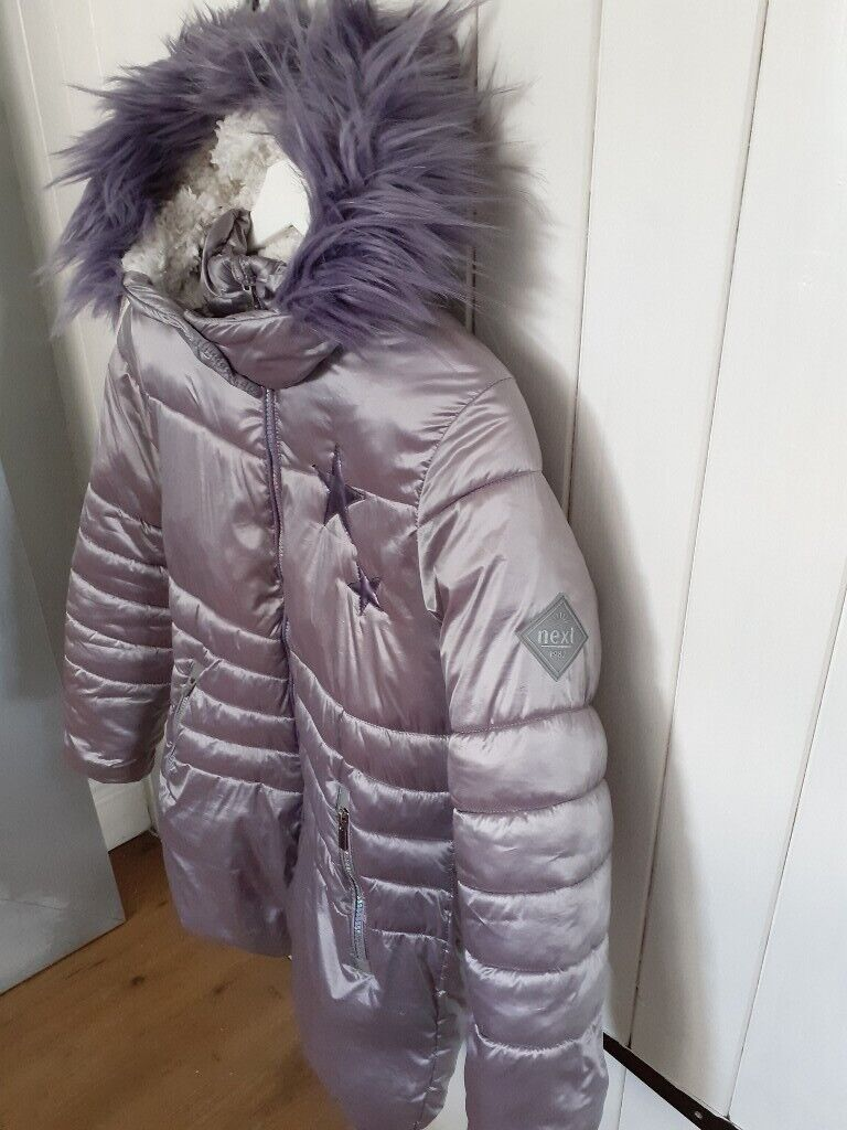 Boys Winter Warm Lindex Grey Padded Jacket with Faux Fur Hood Trim New RRP £35