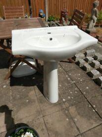 White pedastle sink, unused.