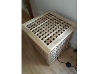 Ikea Hol Wooden Side Table Storage Box