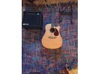 Ashton electro acoustic with amp and stand