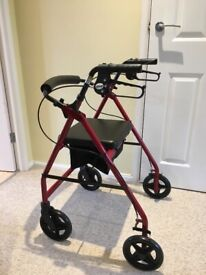 Walking Frame Rollator four wheels with seat
