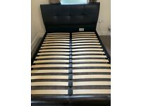 Used King Size - Faux Leather Bed Frame