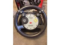 Nintendo 64 Steering Wheel with Rumble Effect & Foot Pedals