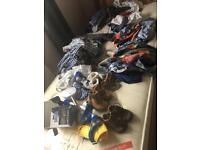 Massive baby boy bundle- with designer clothes and shoes, door bouncer and mirror