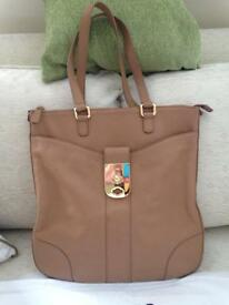 Jaeger large leather bag with dust bag