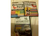 Motorcycle theory and hazard perception test. Driving test, hazard extra. Pc dvd software